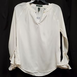 NWT Lauren ivory blouse with some sheen